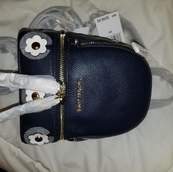 00a3a40060d6 Michael Kors Bags | Rhea Mini Floral Appliqu Leather Backpack | Poshmark